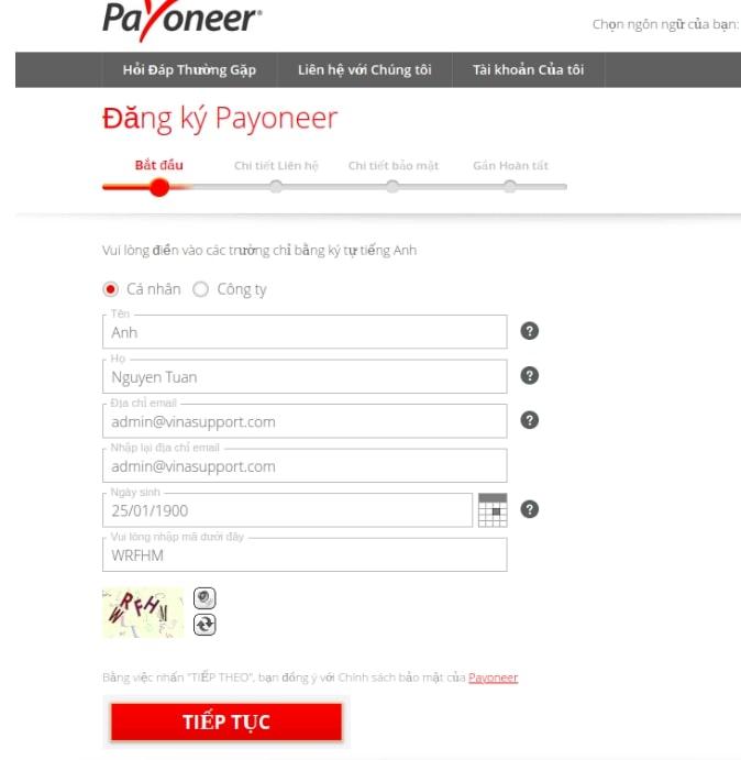 dang ky payooer Payoneer là gì? Cách đăng ký tạo tài khoản, xác minh và rút tiền từ Payoneer về Việt Nam 2021